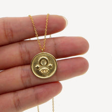 Load image into Gallery viewer, The Indigo Moon Coin Necklace