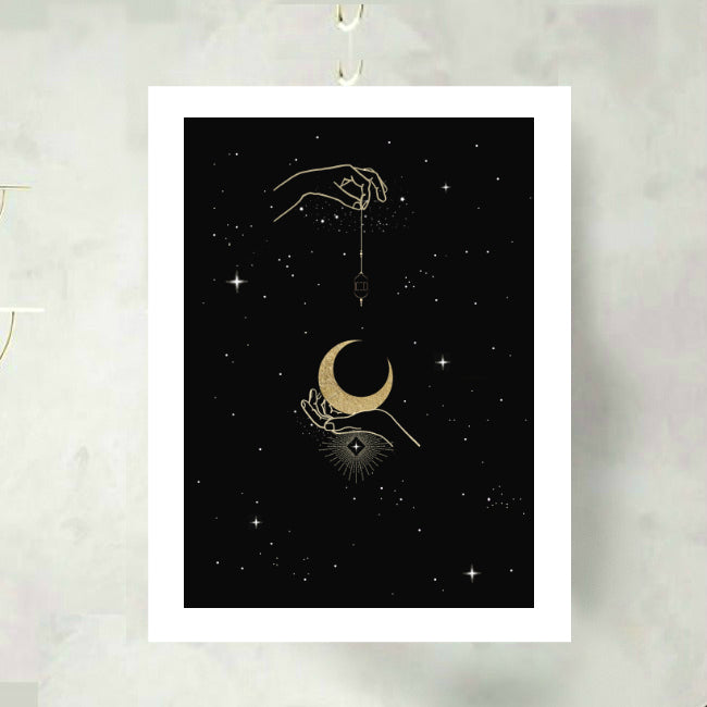 Lantern in the Moonlight Art Print