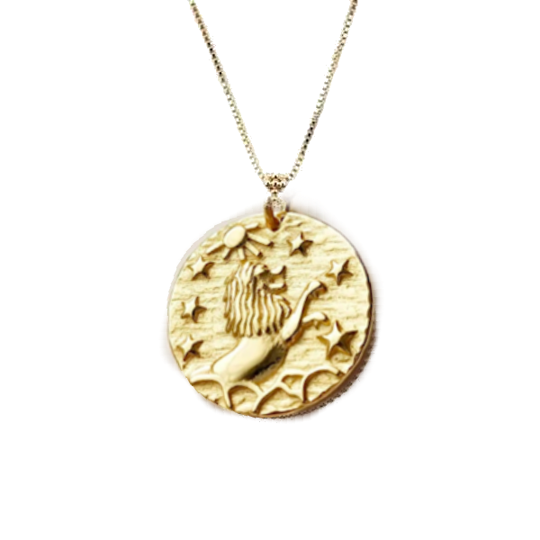 Lion's Mane Coin Necklace