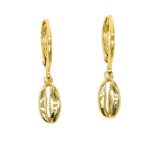 Load image into Gallery viewer, Cowry Sea Shell Earrings