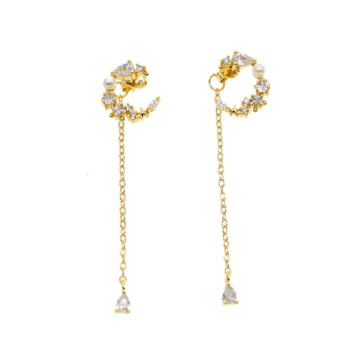 Pearl Moon Earrings