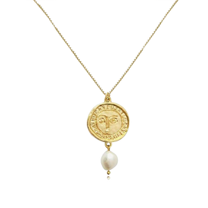The Pearl Medallion Necklace