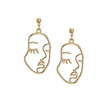 Load image into Gallery viewer, Picasso Face Earrings