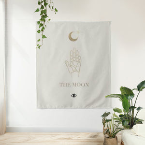 The Moon Tarot Card Tapestry