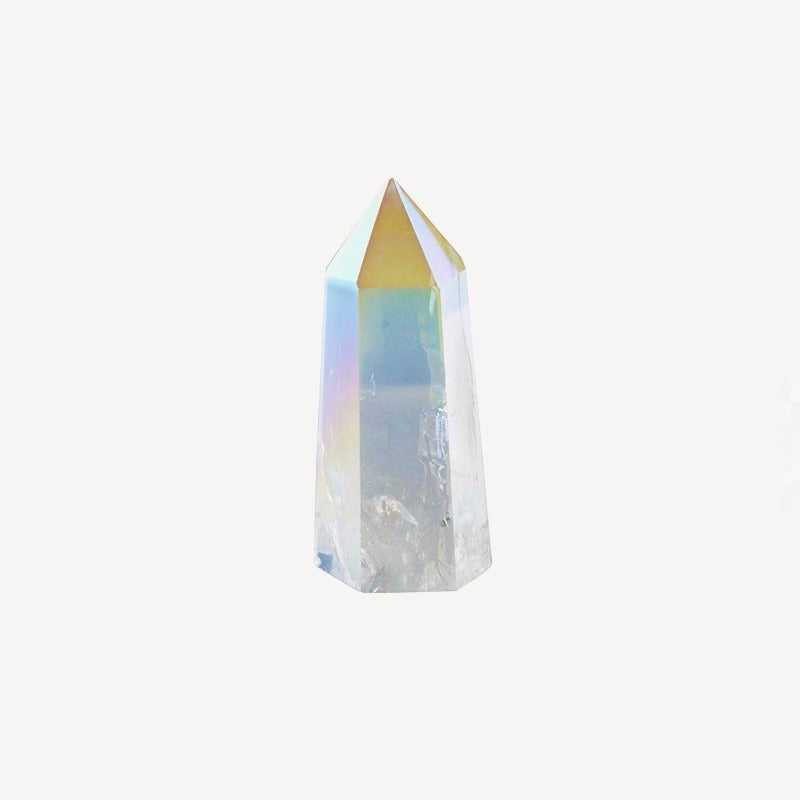 Titanium Quartz Crystal Point