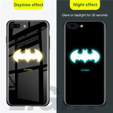 Luminous Superhero Tempered Glass iPhone Cases 11-6 Series