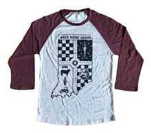 Load image into Gallery viewer, Back Home Again Maroon Unisex 3/4 Sleeve Baseball T