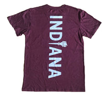 Load image into Gallery viewer, Indiana Back Home Again Maroon Unisex T-shirt