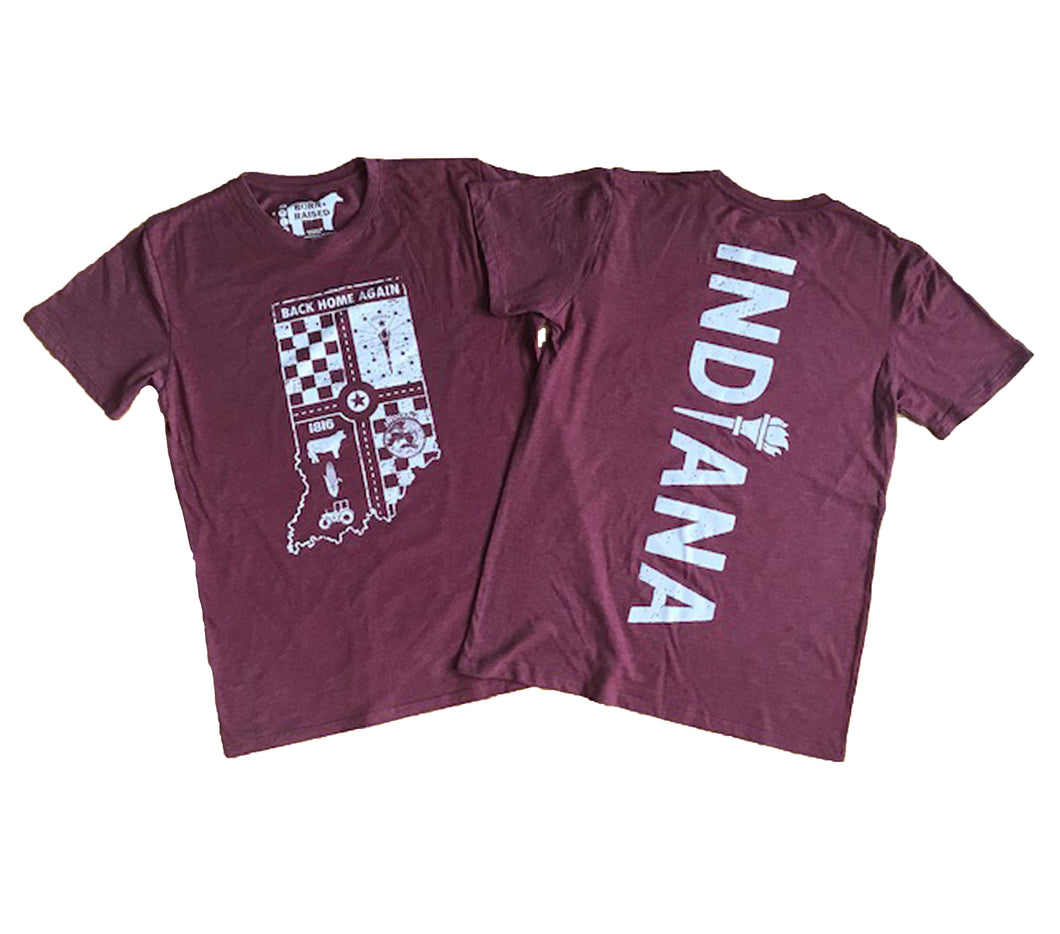 Indiana Back Home Again Maroon Unisex T-shirt