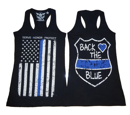 Blue Line Ladies' Racerback Tank