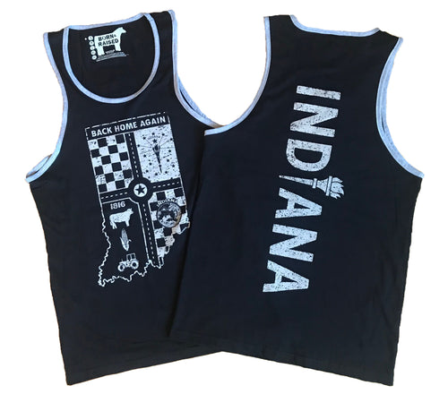 Indiana Back Home Again Men's Tank