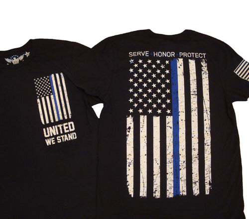 Blue Line United We Stand Unisex T-shirt