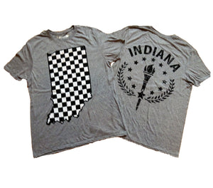 Indiana Checkered Flag State Unisex T-shirt