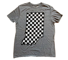 Load image into Gallery viewer, Indiana Checkered Flag State Unisex T-shirt