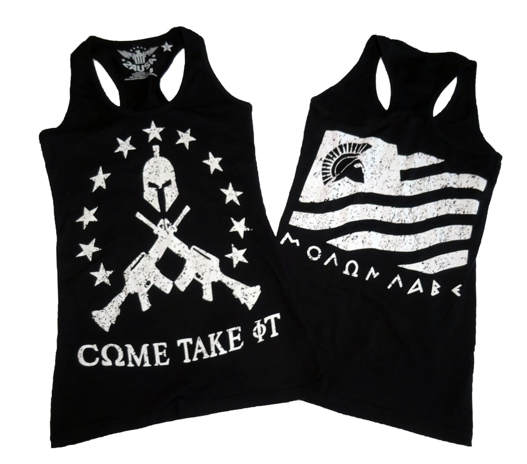 Molon Labe Black Ladies' Racerback Tank