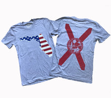 Load image into Gallery viewer, Florida American Flag Unisex T-shirt