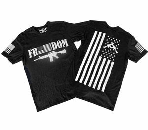 Freedom Heather Black Unisex T-shirt