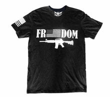 Load image into Gallery viewer, Freedom Heather Black Unisex T-shirt