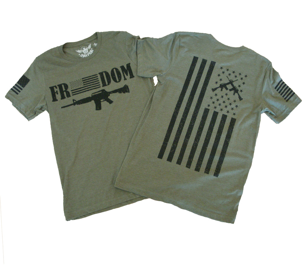 Freedom Heather Olive Unisex T-shirt