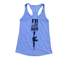Load image into Gallery viewer, Freedom Heather Grey Ladies' Racerback Tank