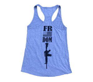 Freedom Heather Grey Ladies' Racerback Tank