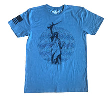 Load image into Gallery viewer, Statue of Liberty Gun Unisex Vintage Indigo Unisex T-shirt