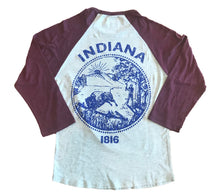 Load image into Gallery viewer, Indiana Maroon Unisex 3/4 Sleeve Baseball T