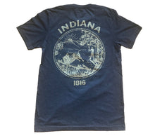 Load image into Gallery viewer, Indiana Navy Gold Home Unisex T-shirt