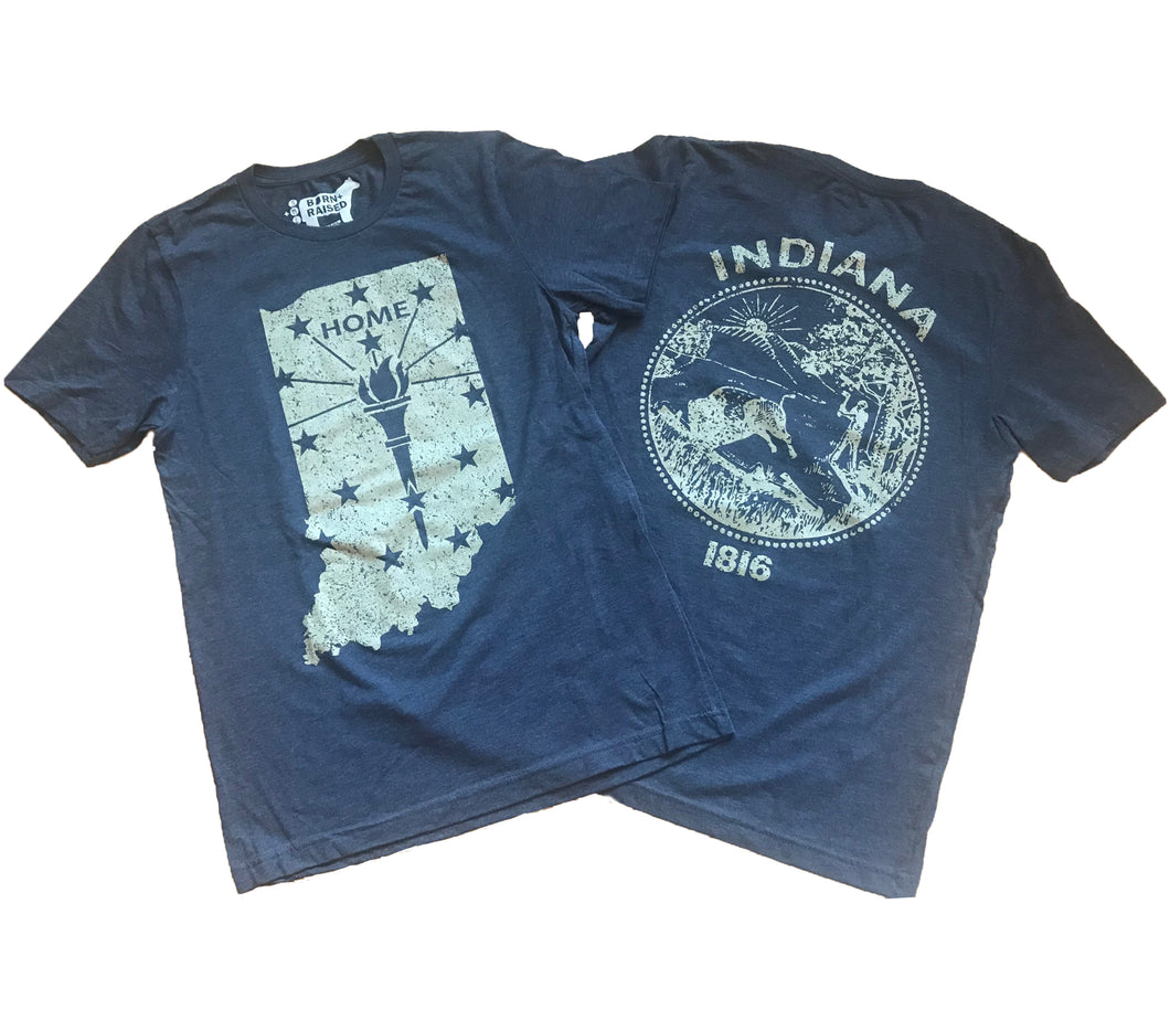 Indiana Navy Gold Home Unisex T-shirt