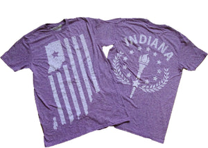 Indiana Double Heather Purple Unisex T-shirt