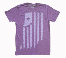 Load image into Gallery viewer, Indiana Double Heather Purple Unisex T-shirt
