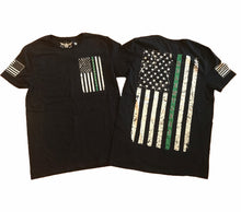 Load image into Gallery viewer, Green Line Relentless Military Support Unisex T-shirt