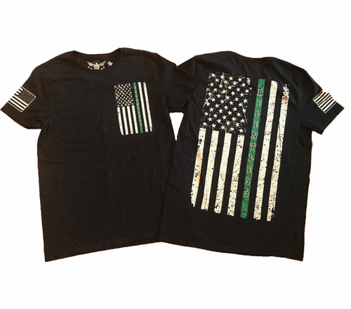 Green Line Relentless Military Support Unisex T-shirt
