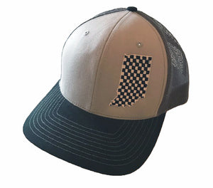 Checkered Indiana Snap Back Hat