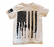Load image into Gallery viewer, Rifle Flag Freedom Oatmeal Unisex T-shirt