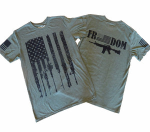 Rifle Flag Freedom Military Snow Unisex T-shirt