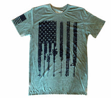Load image into Gallery viewer, Rifle Flag Freedom Military Snow Unisex T-shirt