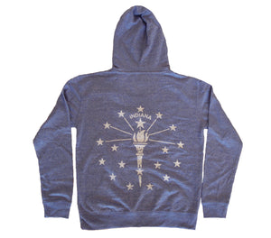 Indiana Royal Heather Pullover Unisex Hoodie