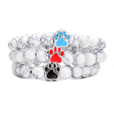 White Star Stone Dog Bracelet