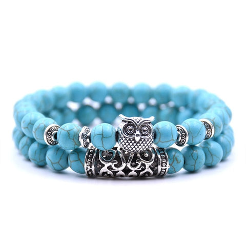 Multi Color Owl Bracelet