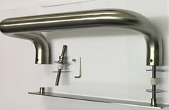 Aluspec 100 Series Cranked Entrance Pull Handle c/w Push Plate SSS