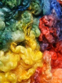 Rainbow Dyed English Leicester Fleece