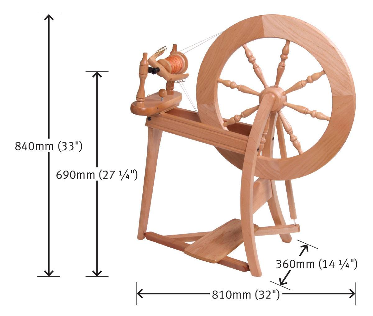 Spinning Wheel Drive Band Double Drive Waxed Cotton Natural