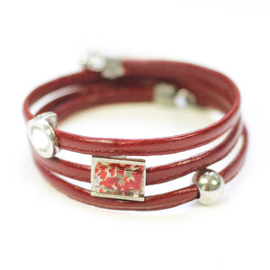 Bracelet Le Twist rouge bordeau 1 de Cré-Art