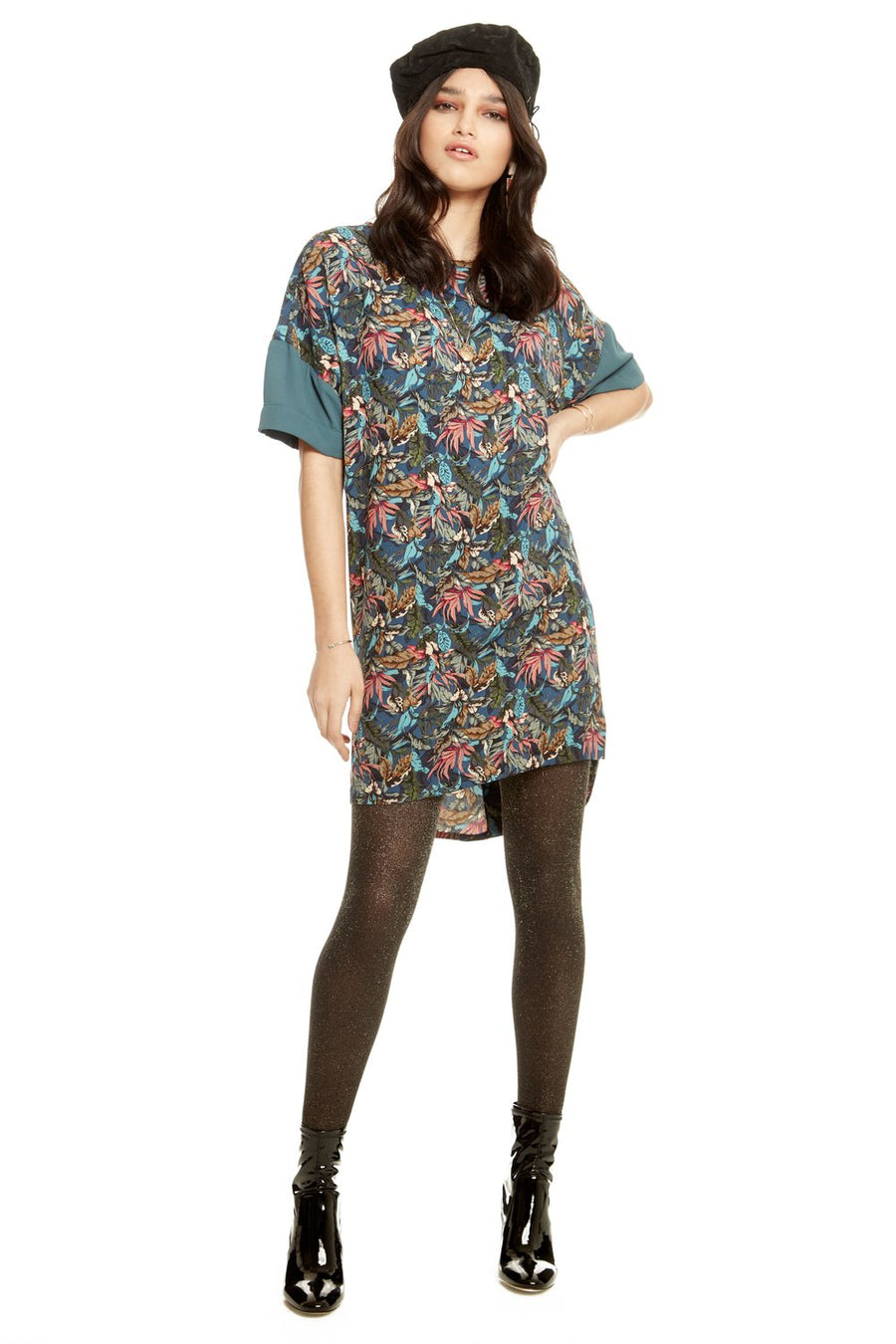 Robe Mixed-up Girl feuillage d'Annie 50