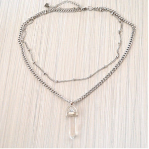 Collier double pierre Crystale de Tokade