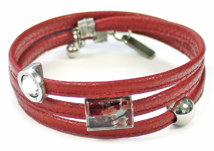 Bracelet Le Twist rouge clair 6 de Cré-Art