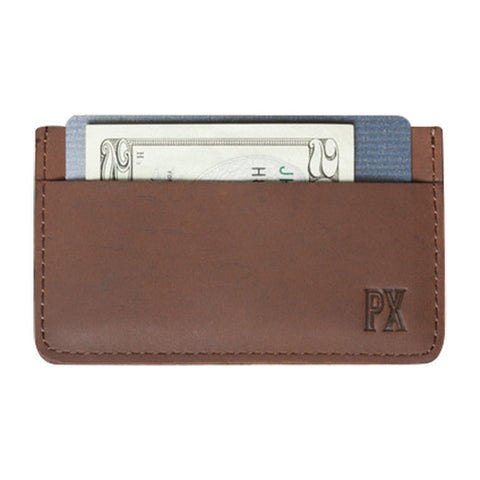 Jeffery Leather Card Holder in Tan