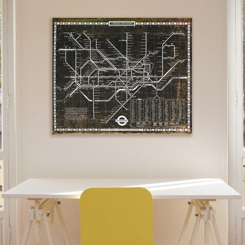 London Tube 1972 Canvas Art