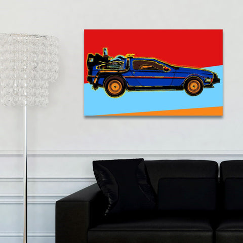Warhol style Delorean Canvas Art